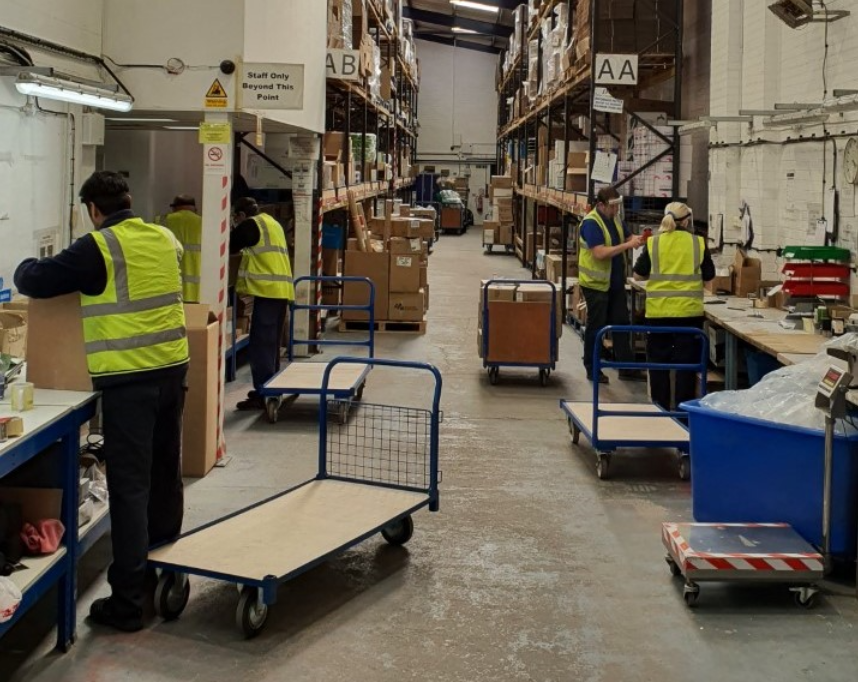 Medical World Warehouse With Workers