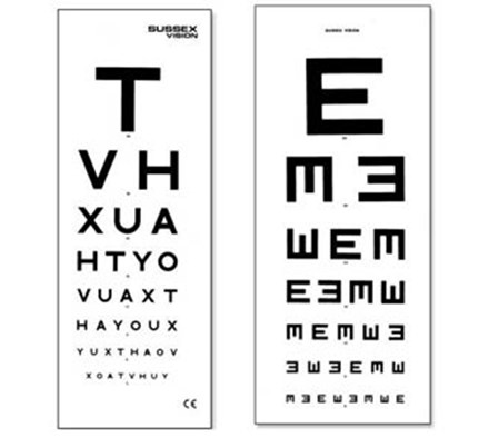 Eye Test Chart With Patient Hand Card 6m Medical World