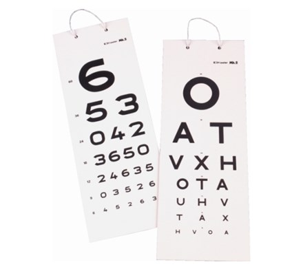 EYE TEST CHART LETTERS CARDBOARD (3 MTR) - Medical Products