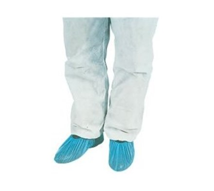 OVERSHOES POLYTHENE 16'  BLUE X100