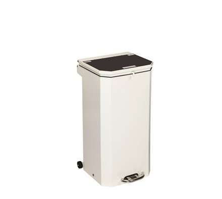 BIN PEDAL 70 LTR WITH BLACK LID FOR DOMESTIC WASTE