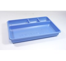 TRAY 4 COMPARTMENT LIGHTWEIGHT PLASTIC (DISPOSABLE STERILE SINGLE USE) X 30