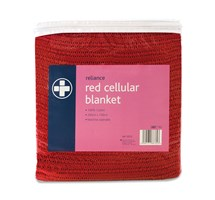 BLANKET CELLULAR 200CM X 150CM (RED)