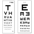 EYE TEST CHART WITH PATIENT HAND CARD 6M