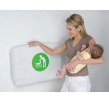 BABY CHANGING UNIT HORIZONTAL WHITE FLECK