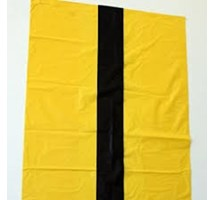 BIN LINER YELLOW TIGER STRIPED 15/28/39 X 250 (MEDIUM DUTY)