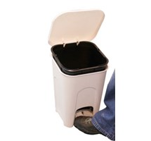 BIN PEDAL 16 LTR WASTE WITH LINER PLASTIC WHITE X 1