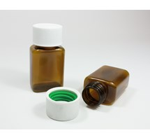 BOTTLE & CAP 25ML BROWN PLASTIC X 200 (MEDI-LOC CAP)