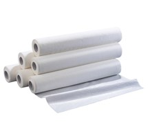 "COUCH / BED ROLL PLASTIC BACKED WATERPROOF WHITE 20"" WIDE  X 6ROLLS"