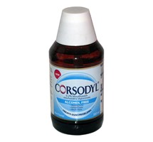 CORSODYL (CHLORHEXIDINE GLUCONATE) MINT ALCOHOL FREE MOUTHWASH 300ML (GSL)