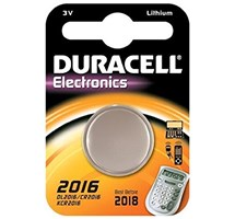 BATTERY BUTTON CELL DL2016/CR2016 (DURACELL) 3V LITHIUM X1