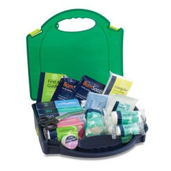 FIRST AID KIT (LARGE) BSI AURA BOX INCLUSIVE OF WALL BRACKET