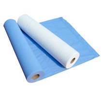 COUCH / BED ROLL 2 PLY BLUE X 9 ROLLS(135 SHEETS 50CMX50 CM) 50MTRS