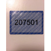 LABELS TAMPER EVIDENT NON RESIDUE NUMBERED BLUE 73X50MM ROLL OF 1000