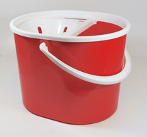 MOP BUCKET OVAL WITH SIEVE RED 7 LTR (COLOUR CODED)