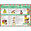 WALL CHART RESUSCITATION EMERGENCY 400X300mm