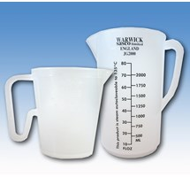 JUG MEASURING PLASTIC (CLEAR) 2.0 LITRE (REUSABLE AUTOCLAVABLE) X 1