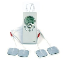 TENS THERAPY RETRO TWIN CHANNEL WITH 4 GEL PADS & LEADS