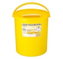 SHARPS BIN+LID 22LTR YELLOW