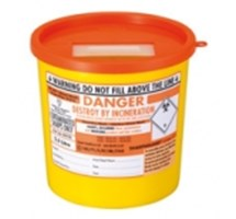 SHARPS BIN+LID 2.5LTR ORANGE