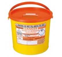 SHARPS BIN+LID 7LTR ORANGE