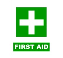 SIGN - FIRST AID LAMINATED A4