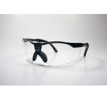 SPECTACLES SAFETY CLEAR TINT BLACK/BLUE FRAME (BETA MX) 99.9% UV PROTECTED