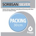 SORBSAN SILVER PACKING (CAVITY DRESSING) WITH PLASTIC PROBE 30CM/2G X 5