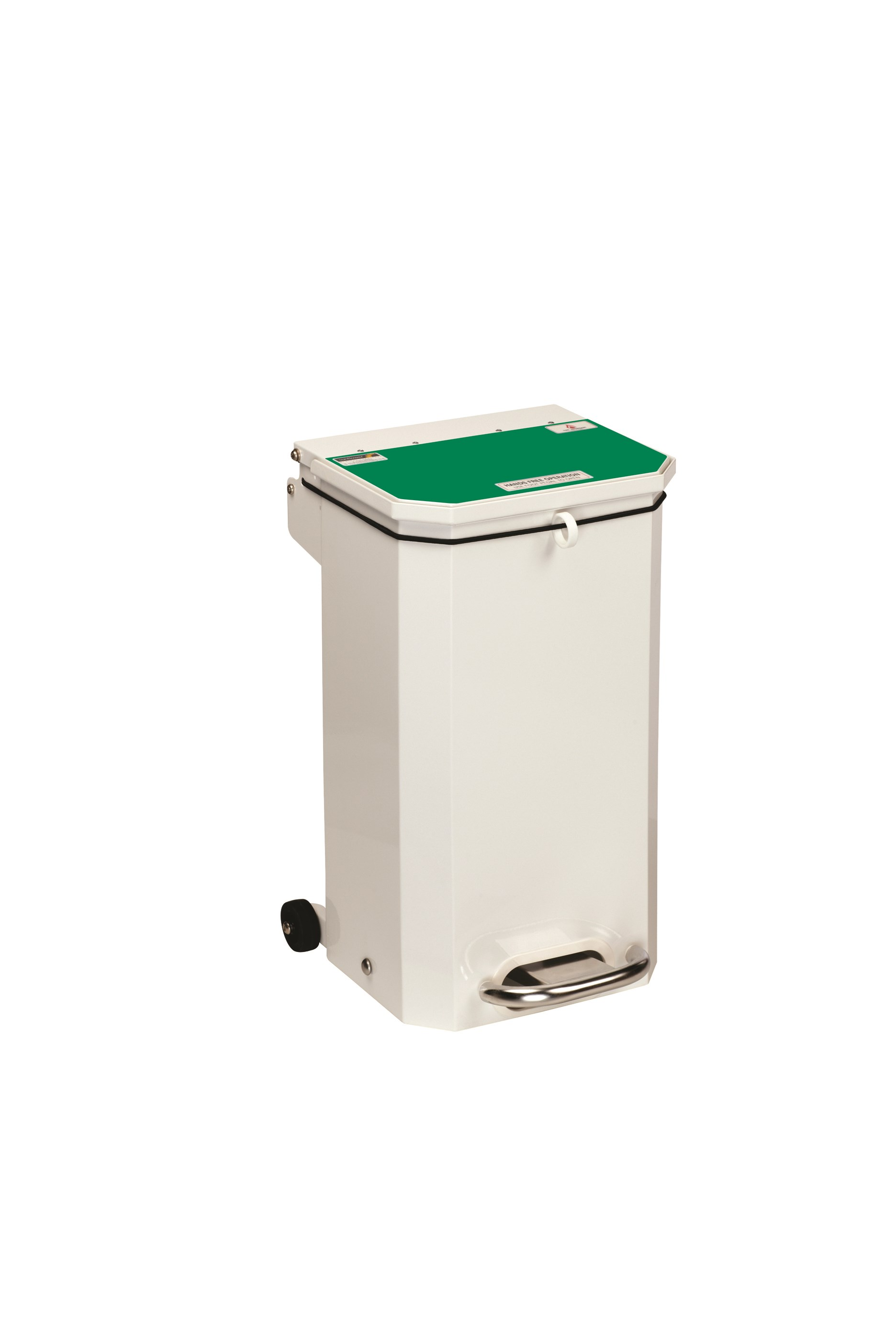 BIN PEDAL 20 LTR WITH GREEN LID USER DEFINED
