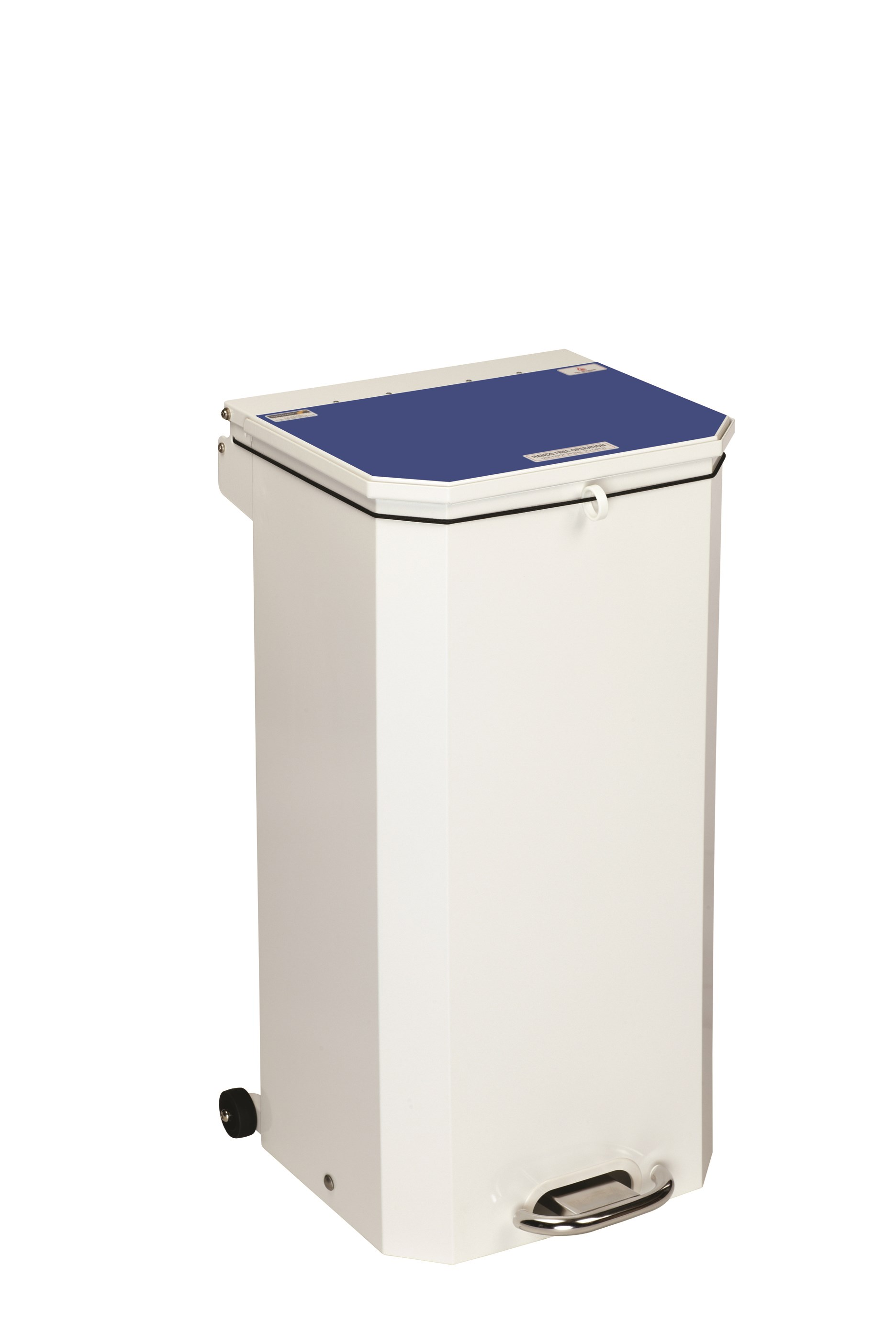 BIN PEDAL 70 LTR WITH BLUE LID USER DEFINED