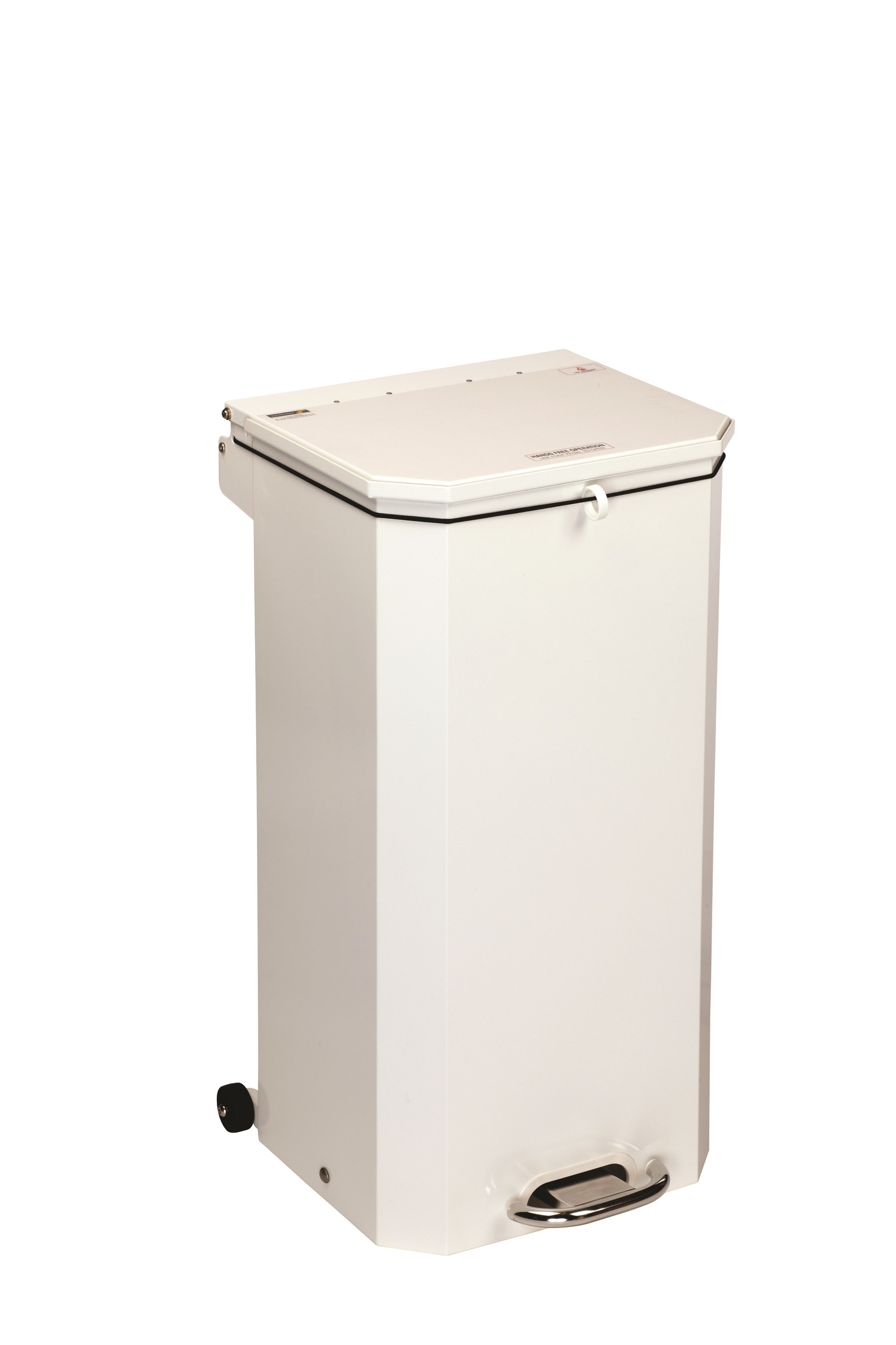 BIN PEDAL 70 LTR WITH WHITE LID FOR GENERAL USE