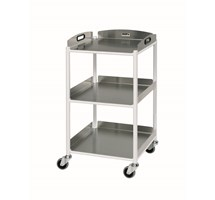 TROLLEY DRESSING (SUNFLOWER) SMALL (86CM X 46CM X 52CM) 3 STAINLESS STEEL TRAYS
