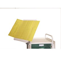CHART HOLDER (SUNFLOWER) ADJUSTABLE HEIGHT FOR VISTA TROLLEY INCLUDES MEDI-RAIL