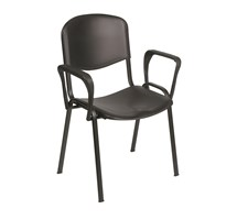 CHAIR VENUS VISITOR WITH ARMS BLACK
