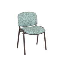 CHAIR GALAXY VISITOR WITH ARMS INTER/VENE ANTI-BACTERIAL UPHOLSTERY GREEN BUBBLE