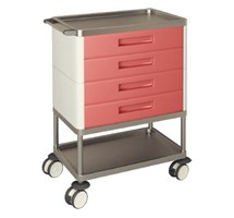 TROLLEY MULTIFUNCTION 4 STANDARD YELLOW DRAWERS 2 SHELVES