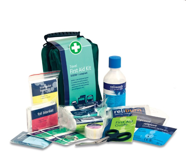 FIRST AID KIT TRAVEL BS8599 IN A STOCKHOLM BAG