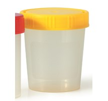 URINE CUP SCREW ON YELLOW CAP X 10 STERILE