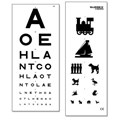 EYE TEST CHART DOUBLE SIDED 3M