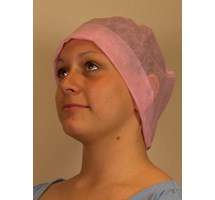 CAP NURSES ELASTICATED PINK x 100