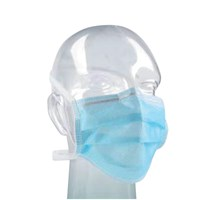 MASK FACE BARRIER TIE-ON BLUE X 60