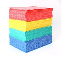 CLOTH DISPOSABLE RED X 50 (COLOUR CODED)