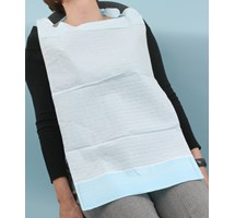 BIB (UNODENT) WITH COLLECTION POCKET LIGHT BLUE X 100