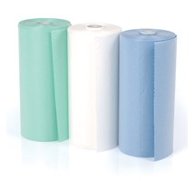BIB DISPOSABLE (UNODENT) 2PLY (50 X 60CM) GREEN ROLL X 80