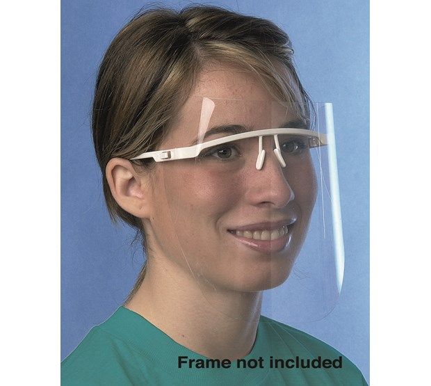 FACE SHIELD UNOTECT+ (UNODENT) BLUE FRAME WITH 12 DISPOSABLE SHIELDS ...