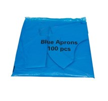 APRON BLUE DISPOSABLE X 100 FLAT PACK