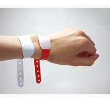 IDENTITY WRIST BANDS RED WRITE-ON X 100 (ADULT)
