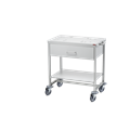TROLLEY (SECA) BABY SCALES WITH 2 BRAKED CASTORS, INTEGRATED DRAWER AND SHELF