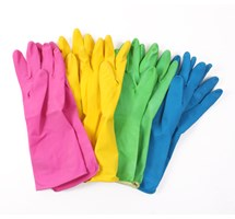GLOVE HOUSEHOLD - BLUE - SMALL LATEX (SIZE 7) X 1 PAIR (COLOUR CODED)