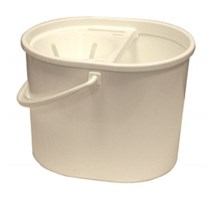 MOP BUCKET OVAL WITH SIEVE WHITE 7 LTR (COLOUR CODED)